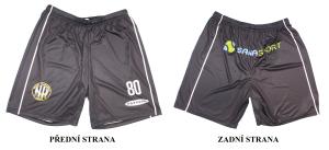Trenky černé - MUŽI a MLÁDEŽ - používají se spolu s černobílým pruhovaným dresem a se žlutým dresem